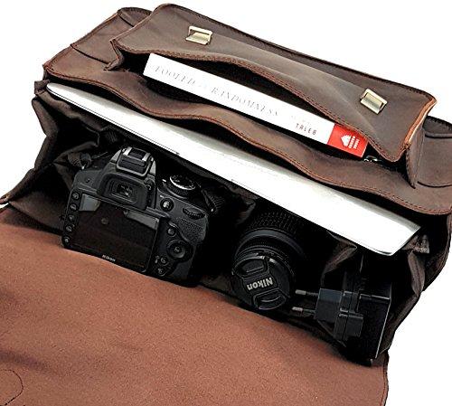 Purple Relic Leather Dslr Camera Bag 15 6 Inch Laptop