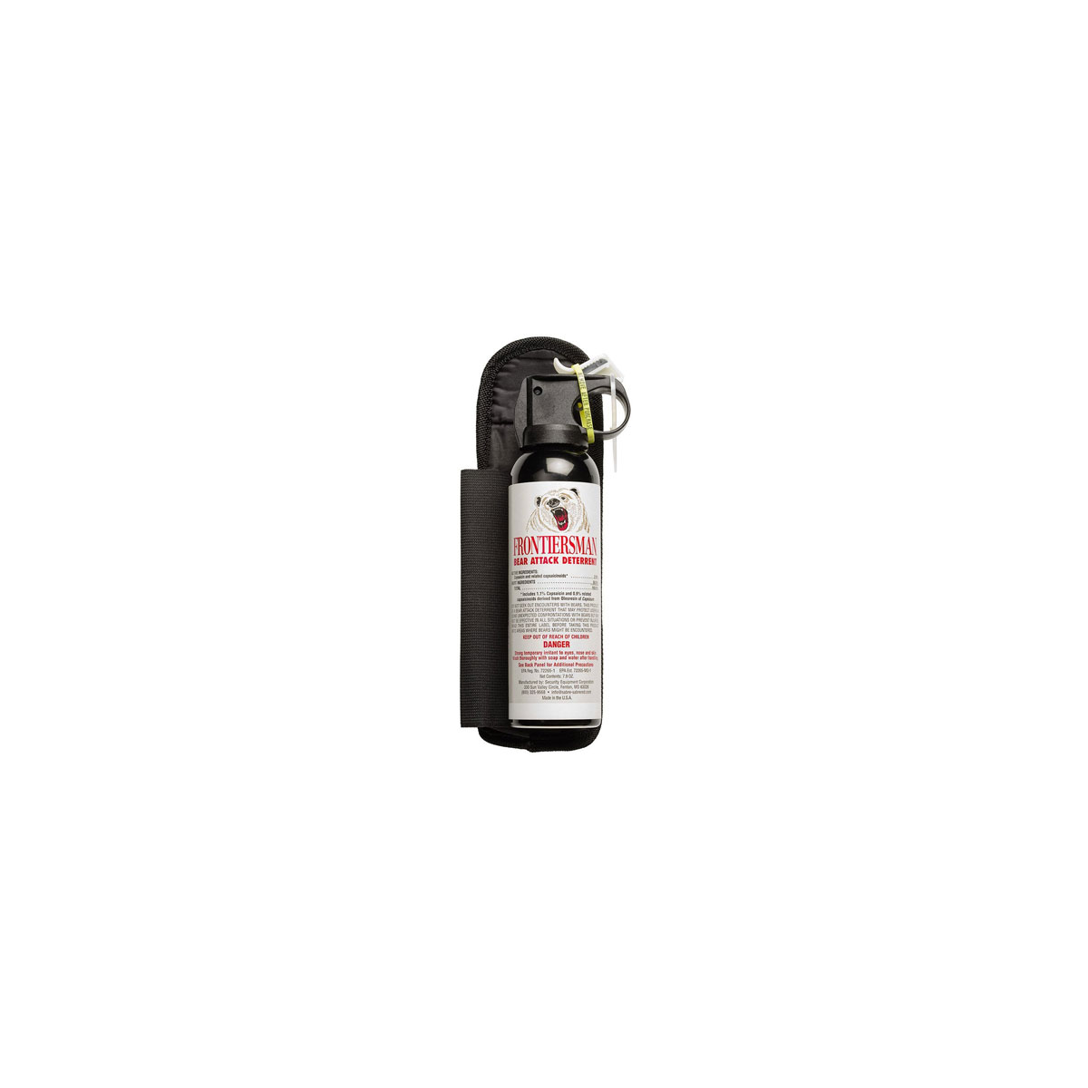 Bear Protection With Frontiersman Bear Spray: Bear Spray With Holster (Max Strength)